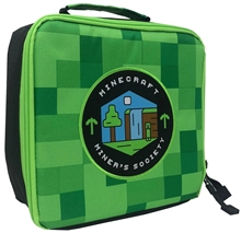 Minecraft Miner's Society Lunch Box Bag (Green)