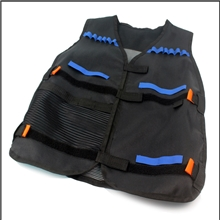 Tactical Vest Compatible with Nerf - black